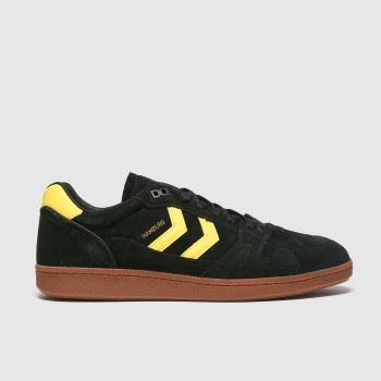 hummel Black Handball Hamburg Mens Trainers#