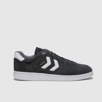 hummel Dark Grey Handball Messmer Mens Trainers