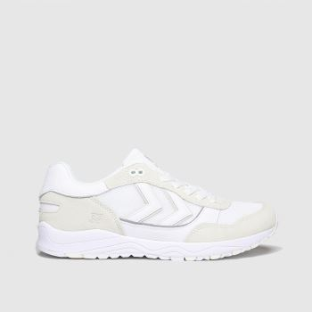 hummel White 3s Mono Suede Mens Trainers#