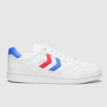 hummel White & Blue Hb Team Ogc Mens Trainers
