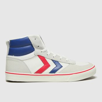 hummel White & Blue Stadil High Ogc 3.0 Mens Trainers