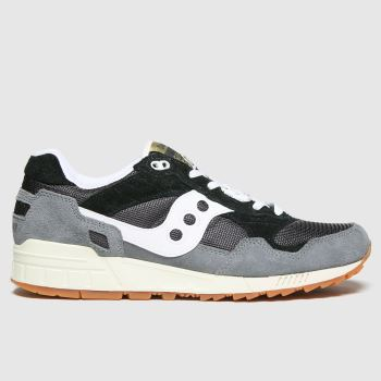 Saucony Grey & Black Shadow 5000 Mens Trainers