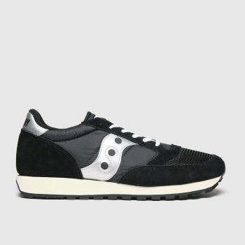 Saucony Black & White Jazz Vintage Mens Trainers
