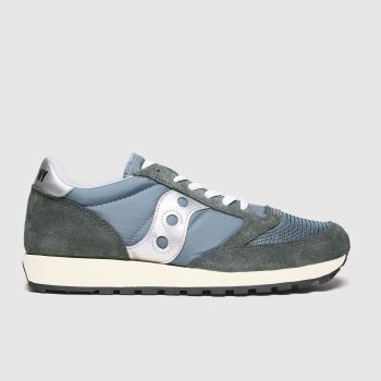 Saucony Dark Grey Jazz Vintage Mens Trainers