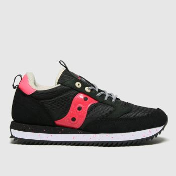 Saucony Black & pink Jazz Peak Mens Trainers