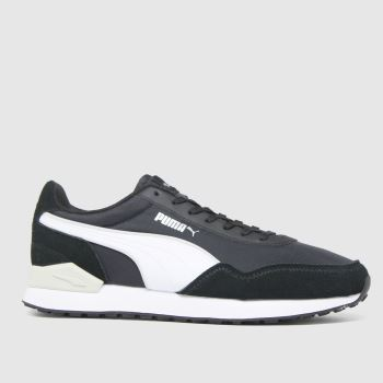 PUMA Black Dista Runner Tonal Mens Trainers