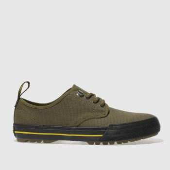 DR MARTENS KHAKI PRESSLER CANVAS SHOES