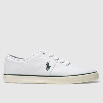 Polo Ralph Lauren White & Green HALFORD Trainers
