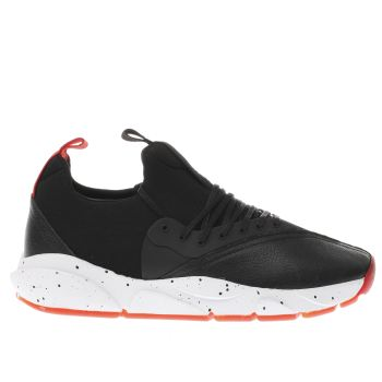 CLEAR WEATHER BLACK & RED CLOUD STRYK TRAINERS