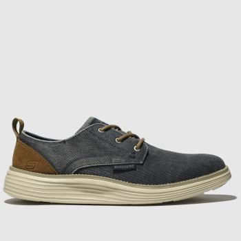 SKECHERS Navy Status 2.0 Pexton Mens Trainers