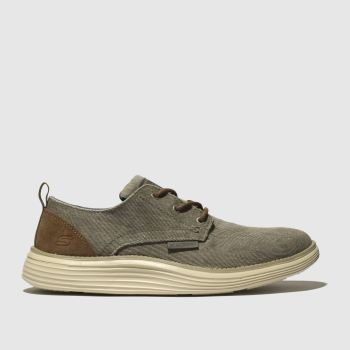 Skechers Beige Status 2.0 Pexton c2namevalue::Mens Trainers