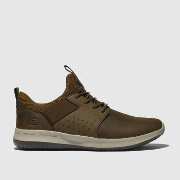 Skechers Dark Brown Delson Axton Trainers