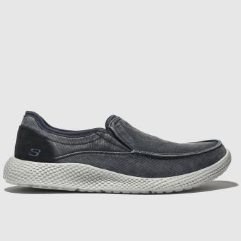 Skechers Navy Relsen Vence Mens Trainers