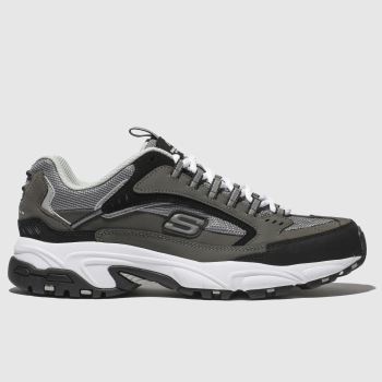 Skechers Grey Stamina Cutback Mens Trainers