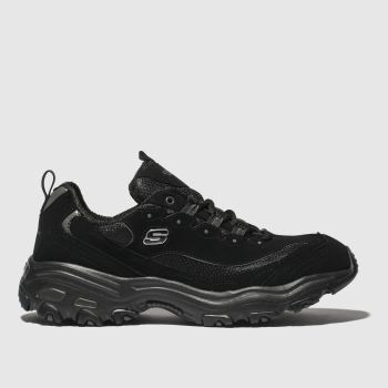 Skechers Black Dlites Mens Trainers