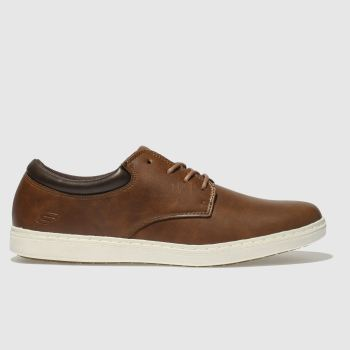 SKECHERS Brown Lanson Mens Trainers