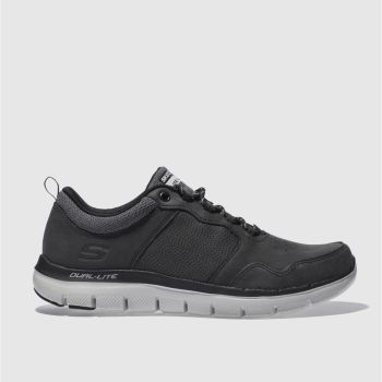 Skechers Black Flex Advantage 2.0 c2namevalue::Mens Trainers