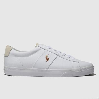 Polo Ralph Lauren White Sayer c2namevalue::Mens Trainers
