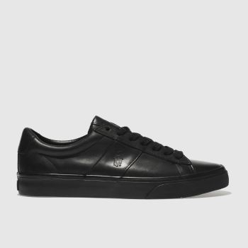 Polo Ralph Lauren Black Sayer Mens Trainers