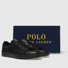 d3f30f4f895 mens black polo ralph lauren sayer trainers