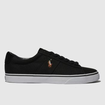 Polo Ralph Lauren Black Sayer Ne c2namevalue::Mens Trainers