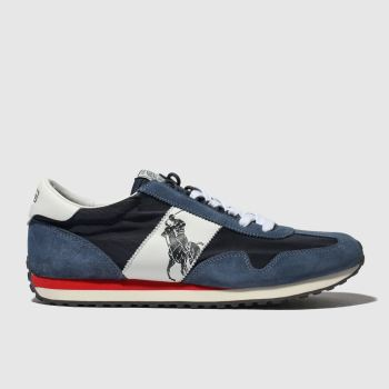 Polo Ralph Lauren Navy & White Train 90 Mens Trainers