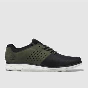 TIMBERLAND BLACK & GREEN BRADSTREET OXFORD TRAINERS