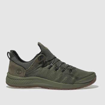 Timberland Dark Green Flyroam Trail Low Mens Trainers