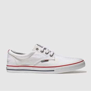 Tommy Hilfiger White & Red TJ TX SNEAKER Trainers