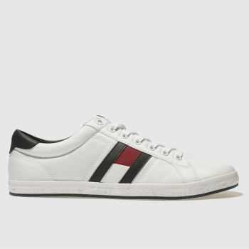 Tommy Hilfiger White & Navy ESSENTIAL FLAG Trainers
