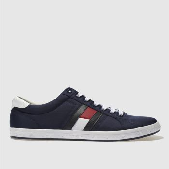 Tommy Hilfiger Navy & White Essential Flag Mens Trainers