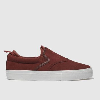 Diamond Supply Co Burgundy Boo J Xl Mens Trainers