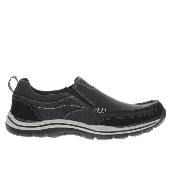 Skechers Black Expected Tomen Mens Trainers