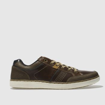 Skechers Brown Lanson Rometo Mens Trainers