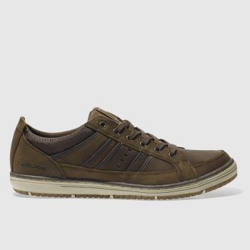 SKECHERS Brown Irvin Hamell Mens Trainers