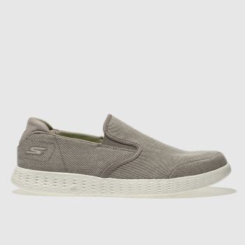 Skechers Beige On The Go Glide Mens Trainers