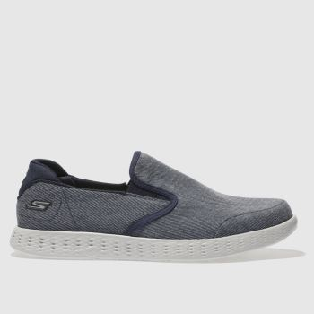 Skechers Navy On The Go Glide Mens Trainers
