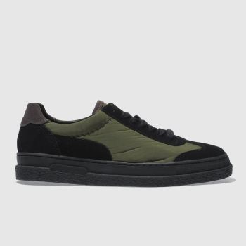 H By Hudson Black & Green Amble Mens Trainers