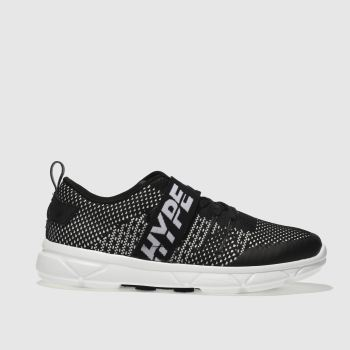Hype Black Tape Runner Mens Trainers