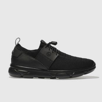 HYPE BLACK KNIT RUNNER TRAINERS