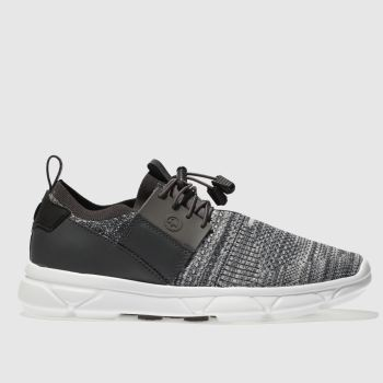 Hype Grey Knit Runner Mens Trainers