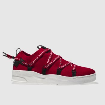 Hype Red Branded Tape Cup Mens Trainers