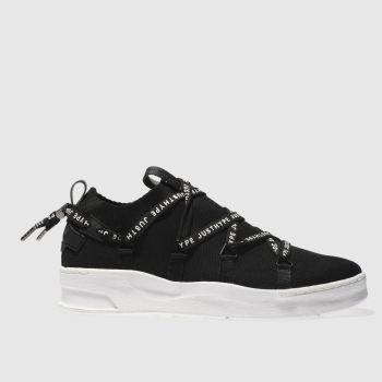 Hype Black Branded Tape Cup Mens Trainers