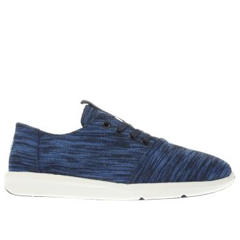 TOMS BLACK AND BLUE DEL REY TRAINERS