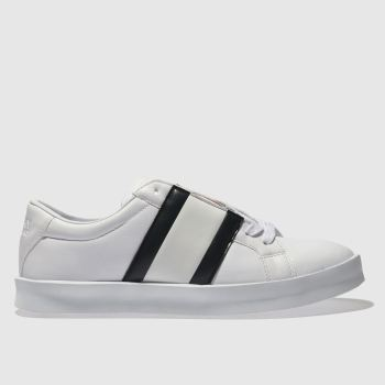 Tommy Hilfiger White & Navy FLAG RETRO LIGHT SNEAKER Trainers