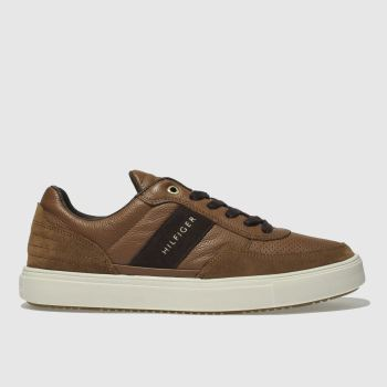 Tommy Hilfiger Tan Material Mix Low Cut Mens Trainers