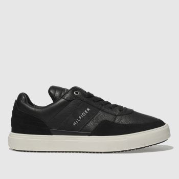 Tommy Hilfiger Black Material Mix Low Cut Mens Trainers