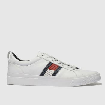 Tommy Hilfiger White Flag Detail Sneaker Mens Trainers