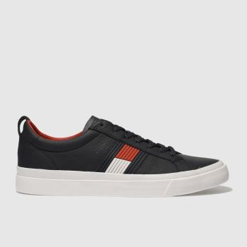 TOMMY HILFIGER NAVY & WHITE FLAG DETAIL SNEAKER TRAINERS