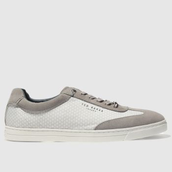 TED BAKER LIGHT GREY PHRANCO TRAINERS